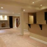 Basement With Fireplace and Kitchen Area in Fairfax