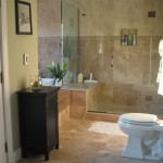Bathroom Remodel Example With Flooring Fairfax Va