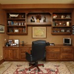 Custom Finished Home Office With Wood in Alexandria Va