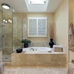 Luxury master bath with skylight Arlington VA