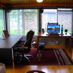 Small Home Office Wood Flooring in Vienna Va